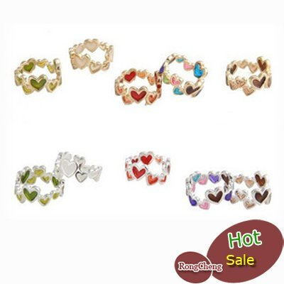 Free shipping! (100pcs/lot) 50% off discount ring,colorful ring,metal ring