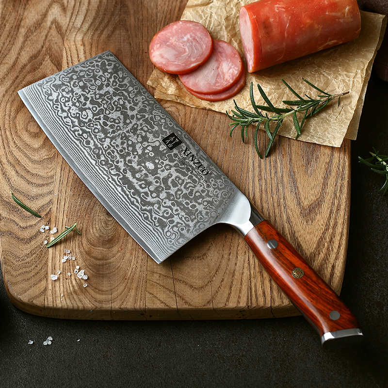 XINZUO 6 5 inches Slicing Knife Japanese Steel Damascus Steel Kitchen Knives High Quality Cleaver Chef
