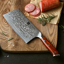 "XINZUO 6.5"" inches Slicing Knife Japanese Steel Damascus Steel Kitchen Knives High Quality Cleaver Chef's Knives Rosewood Handle(China)"