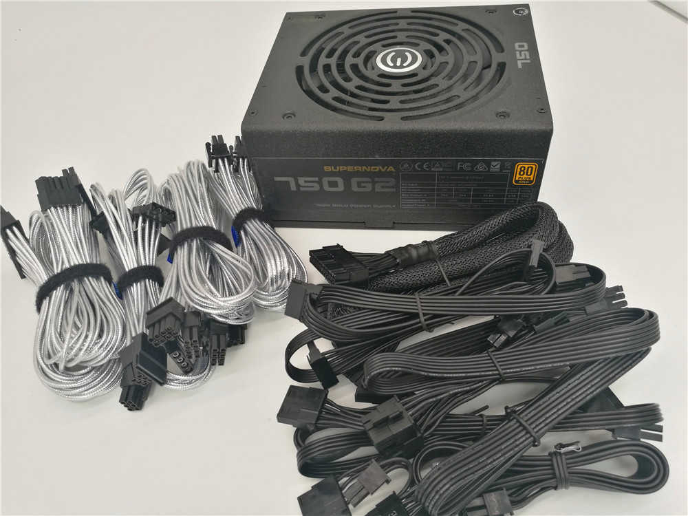 Digunakan Asli 80 Plus Gold 850G 850 W Gold/Modul/Mute/Luas Peak 1000 W Desktop Power Supply Komputer