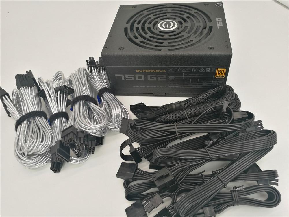 Used Original 80plus Gold 850G 850w Power Supply Gold / Module / Mute / Wide Range Peak 1000w Desktop Computer Power Supply