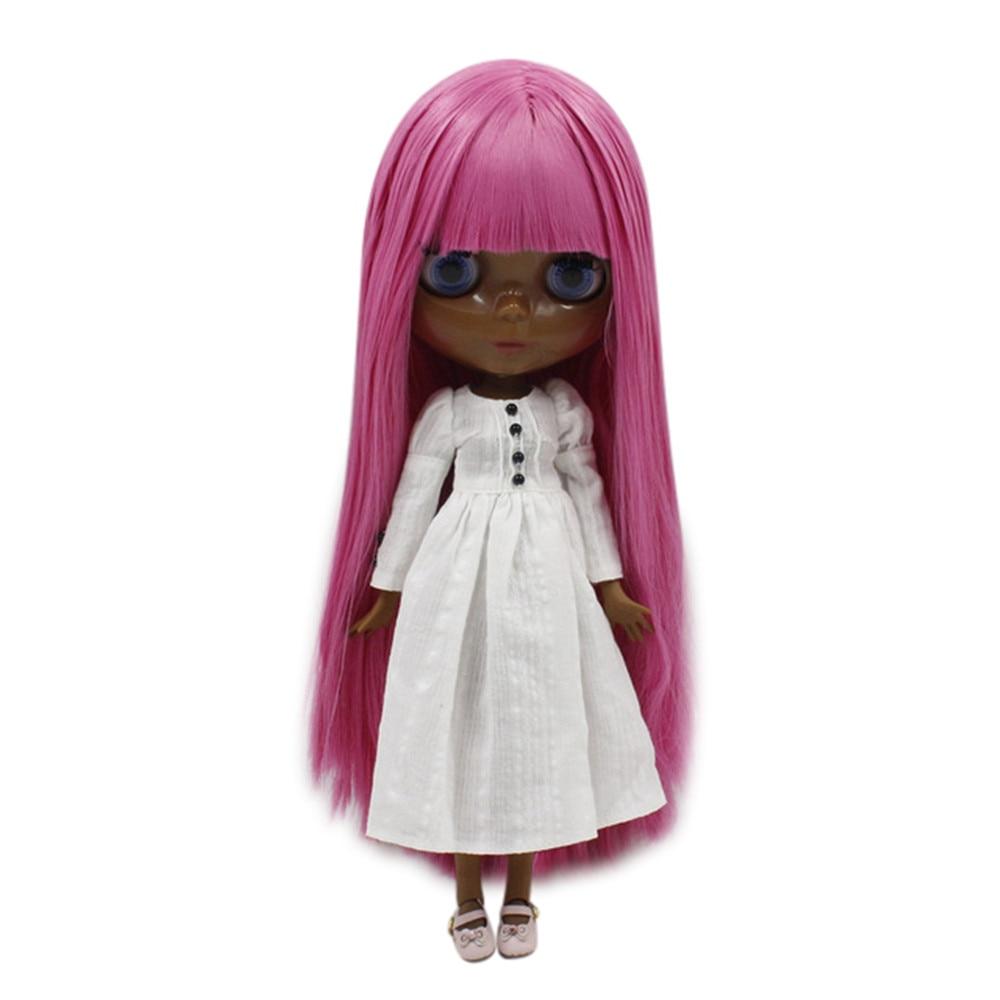 Traum fee fabrik blyth puppe super schwarz haut ton darkest haut schwarz Mode rosa gerade haar geschmeidig joint körper 280BL2277-in Puppen aus Spielzeug und Hobbys bei  Gruppe 1