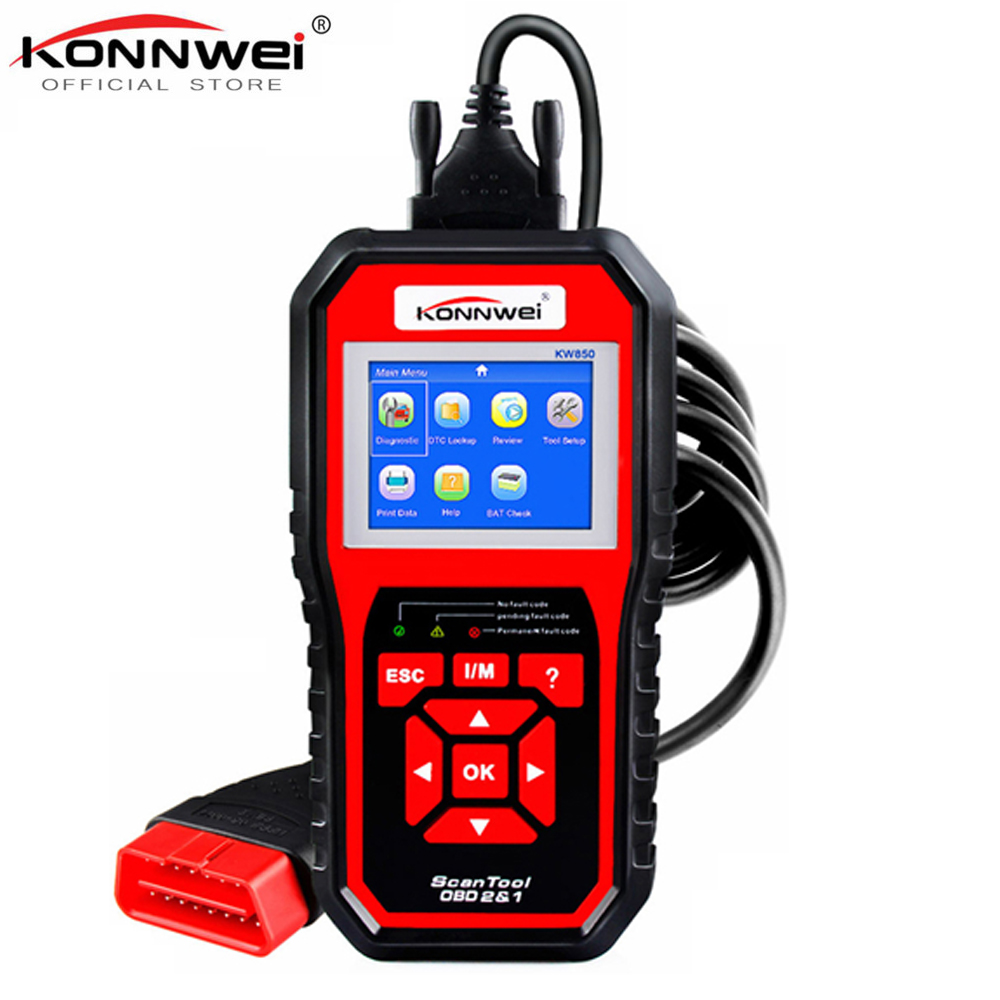 OBD2 ODB2 Scanner Auto Diagnose Scanner KONNWEI KW850 Volle Funktion Auto Diagnose Auto Scanner Universal OBD Motor Code Reader