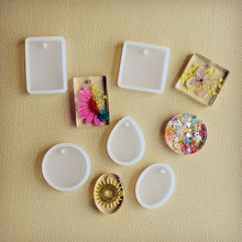 5pieces/set Silicone pendant Mold Resin Silicone Mould handmade DIY Jewelry Making epoxy resin molds
