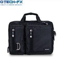 Человека Портфели большой ноутбук Нейлон высокое качество Carring Тетрадь сумка сумки плечевой ремень Водонепроницаемый коричневый, черный L