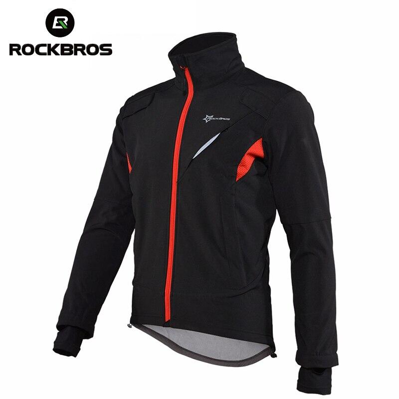 ROCKBROS зимняя ветрозащитная Светоотражающая велосипедная куртка горный велосипед трикотаж велосипедная одежда мужские непромокаемые мужск...