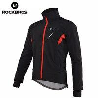 ROCKBROS Cycling Jacket Winter Windproof Water Repellet Reflective Jacket Warm Mountain Bike Lengthen Cuff Men Women Jacket