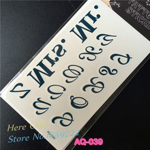 1PC English Letters Tattoos MR MRS Design Flash Temporary Tattoo Sticker Mysterious Symbol Waterproof Fake Tattoo