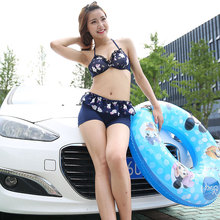 The female swimsuit bikinis set three piece sexy body cover skirt blouse belly sunscreen swimsuit holiday together staerk 2017 sale korean girl female swimsuit conservative thin cover belly bikinis three piece split student boxer movement