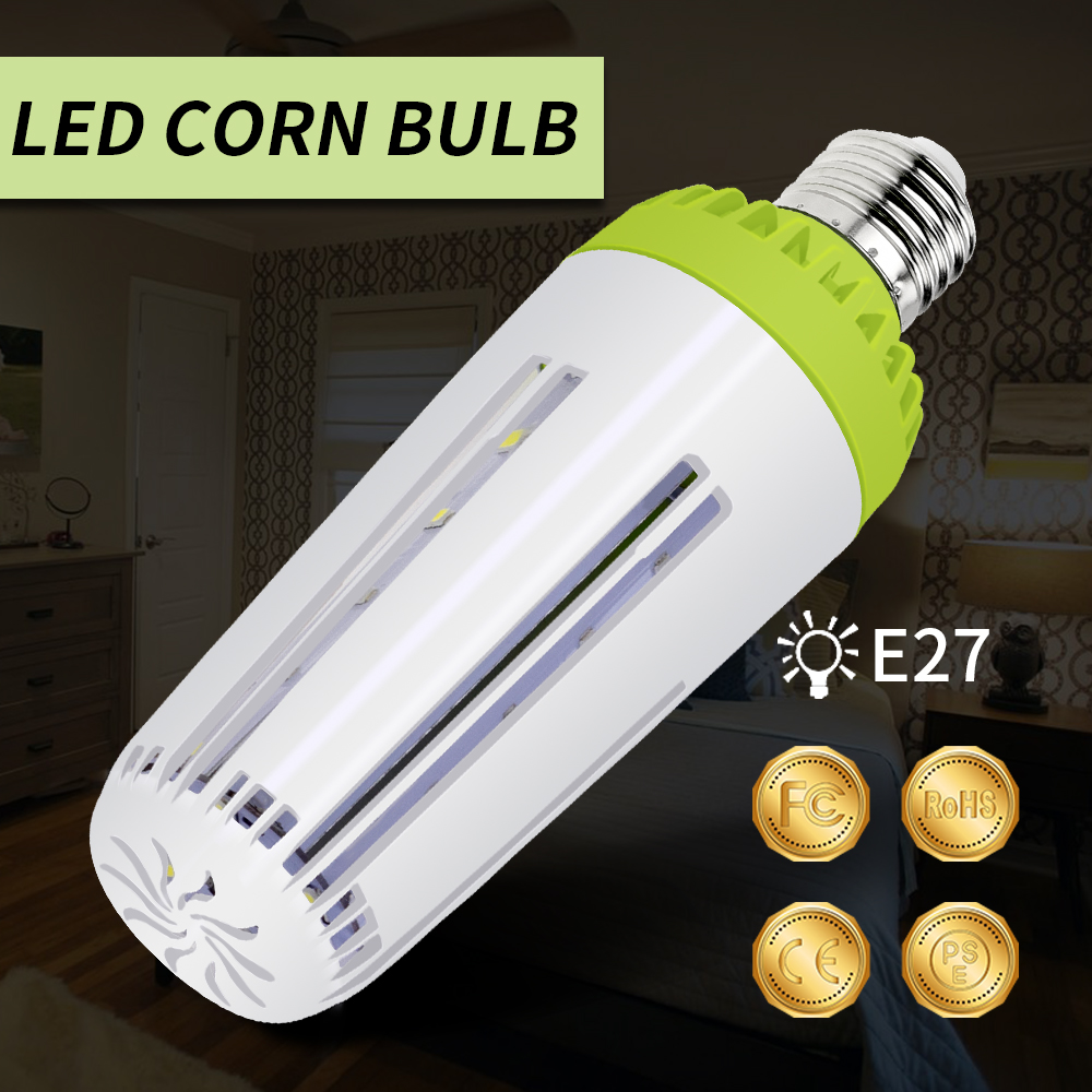 2018 New Power LED Lamp 220V 5W 10W 15W 20W 110V E14 LED Corn Lamp Bulb E27 LED Energy saving Lighting Bulbs 5736SMD No Flicker