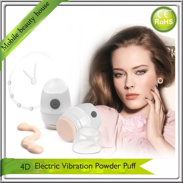 Electric 4D 360 Degree Suspending Vibration Makeup Cosmetic Foundation Powder Puff Applicator Free Shipping