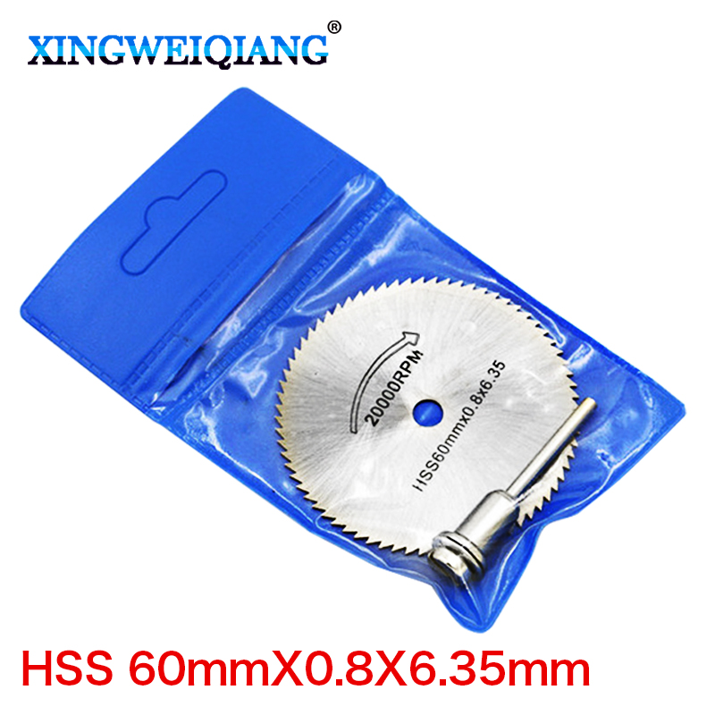 22mm 60mm 6.35 metal cutting disc dremel rotary tool circular saw blade dremel cutting tools for woodworking tool cut off-in Saw Blades from Tools