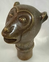 Chinese old hand bronze sculpture twelve zodiac monkey head