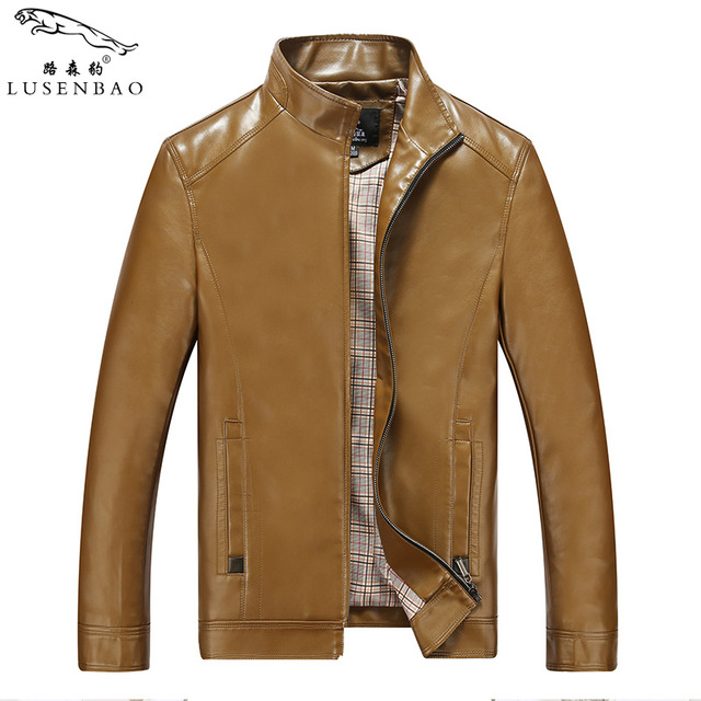 Mens Leather Jackets Mens White Leather Jackets In The Spring Of The New Men's Fashion Business Temperament Men Leather Jacket