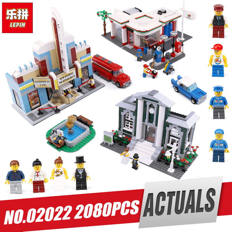 Lepin 02022 2080Pcs City Toys The Legoinglys 10184 Town Plan Set Building Blocks Bricks New Toys Model For Kids Christmas Gifts lepin 02112 new city series the arctic supply plane set 60196 building blocks bricks legoinglys toys model boy christmas gifts