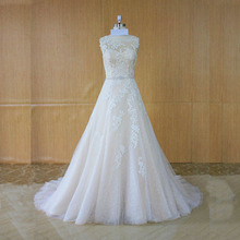 AMANDA NOVIAS Super Elegant Light Champagne Wedding Dresses