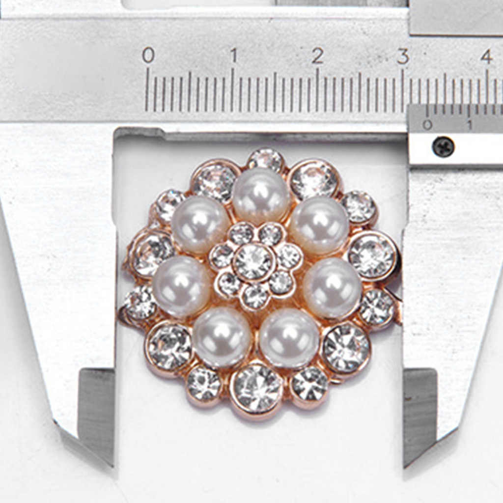 2 unids/set de Clip para zapatos de mujer, zapatos de señora, decoración DIY, Sandalias de tacón alto, abalorios de perlas de lujo, diamantes de imitación, moda única Floral