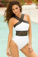 One Piece BANDAGE Sexy Swimwear Women 2017 Summer Beach Wear Bathing Suit Sexy Bandage Black And