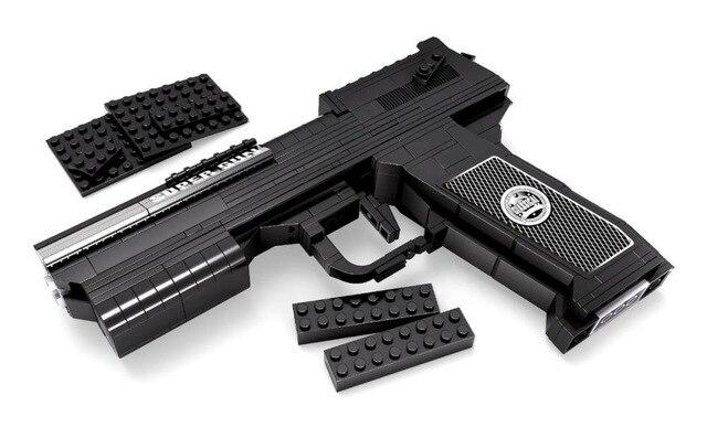 373 pièces désert aigle pistolet pistolet de puissance arme armes modèle 1:1 3D modèle brique pistolet bloc de construction ensemble jouet cadeau pour enfants