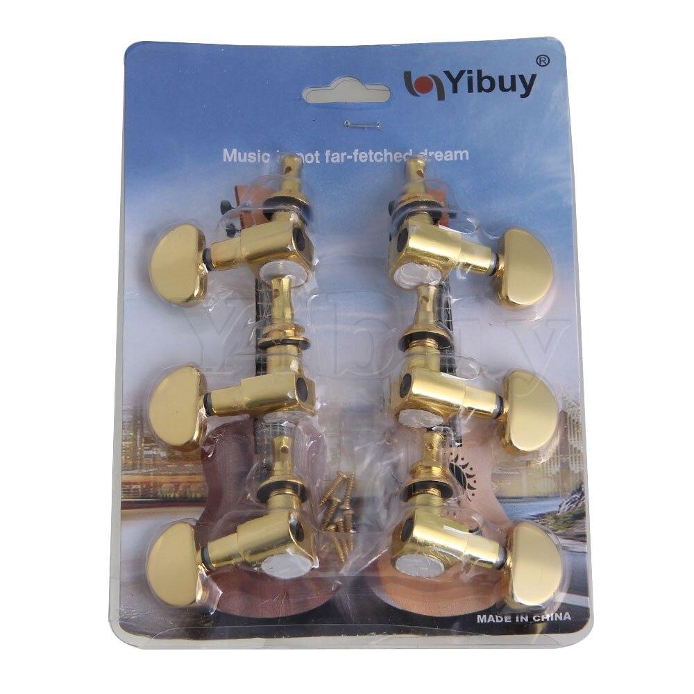 все цены на Yibuy Gold Guitar Machine Heads Tuners 3R3L Semicircle Button онлайн