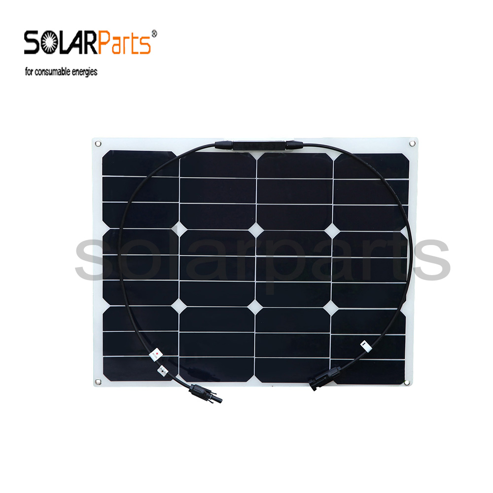 Solarparts 2pcs 40W flexible solar panel MC4 connector high efficiency solar cell solar module RV boat
