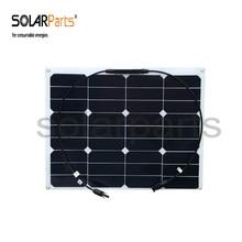 Solarparts 2 unids 40 W flexibles panel solar MC4 conector de alta eficiencia de células solares módulo solar RV yate barco coche 12 v batería