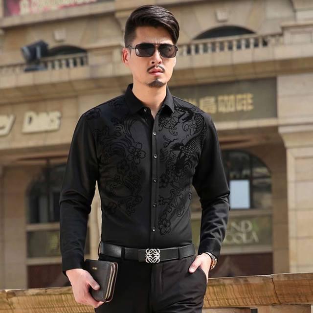 1d2a94310e Camisas para hombre primavera camisetas de manga larga ropa Casual delgado  vestido de hombre camisa para