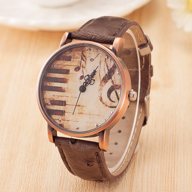 Hot Fashion creative Women dress quarzt Watches leather casual men Business Spor