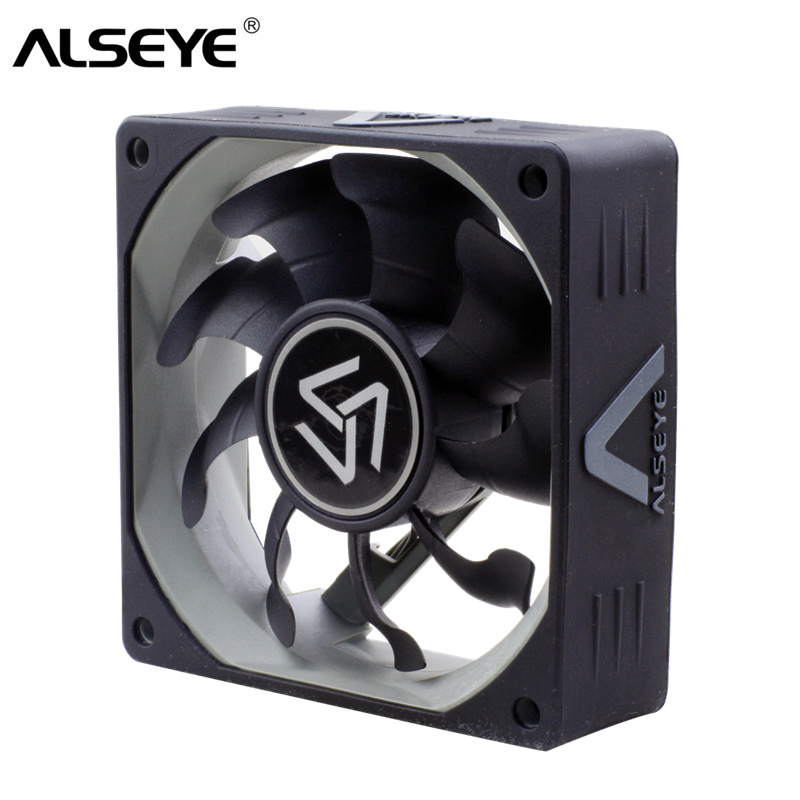 ALSEYE 80mm PC Fan Cooler 12v Slient Cooling Fans 3pin 2000RPM 8cm Silicone Skin Fan for Computer Case 80 80 25 mm personal computer case cooling fan dc 12v 2200rpm 45cm fan cable pc case cooler fans computer fans vca81
