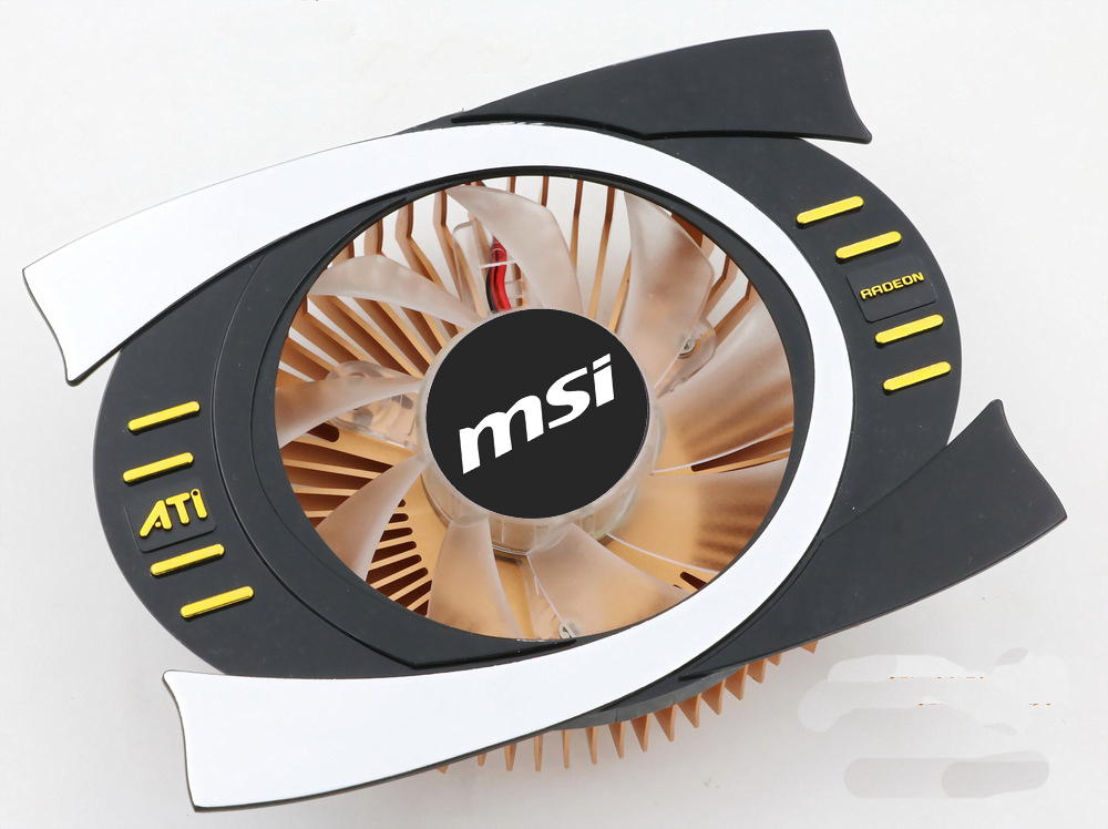 New Original MSI for ATi RADEON 43*43 and 53*53mm holes bit graphics card cooler fan with heat sink 1pcs graphics video card vga cooler fan for ati hd5970 hd4870 hd4890 hd5850 hd5870 hd4890 hd6990 hd6970 hd7850 hd7990 r9295x