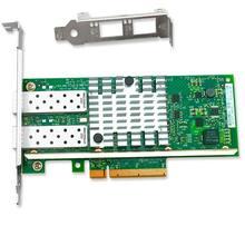 Network Card 2 Ports 10 GigaBit Ethernet Network Adapter PCIe Controller Card 82599ES Chipset
