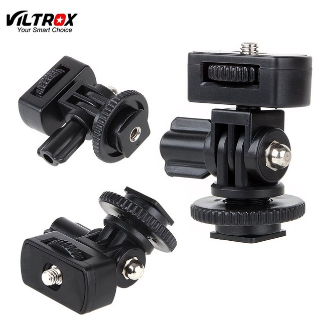 "Viltrox DC 50P 1/4"" Screw Hot Shoe Mount Adapter Adjustable Angle Pole For DSLR Camera Flash LED Light Monitor"
