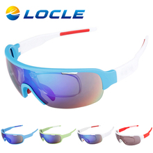 LOCLE Cycling Glasses MTB Road Mountain Goggles Eyewear Gafas Cicismo Bicycle Cycling Sunglasses Oculos Ciclismo 2 or 5 Lens