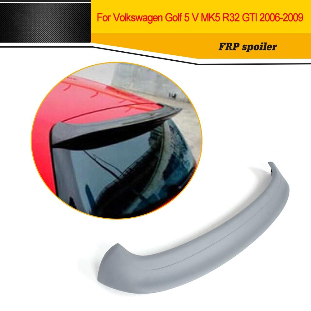 Стайлинга автомобилей ФРП авто на крыше крыло губы спойлер без лампы для Volkswagen VW Гольф 5 В Р32 МК5 ГТИ 06-09