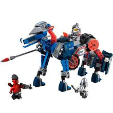 LEPIN 14002 Nexoe Knights Lance s Mecha Horse Bot Lancebot Flame Thrower Minifigures Compatible LEGOe brick