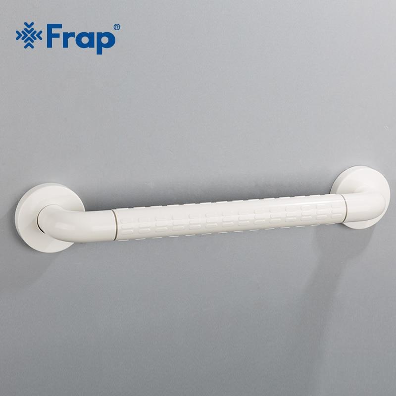 Frap 43cm White Bathroom Accessory Safe Handrail Grab Bar Assist Safety Handle Bars Anti-slip Grip For Elder F8101