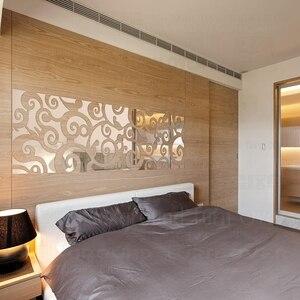 Image 4 - Espejo decorativo 3D con diseño creativo de nubes, pegatinas de pared, decoración de pared de TV, sala de estar y dormitorio, arte para el hogar R123