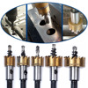 Hakkin 5Pcs Carbide Tip HSS Drill Bit Saw Set Metal Wood Drilling Hole Cut Tool For