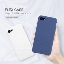 For Apple iPhone 8 Plus case Original NILLKIN Flex Liquid Silicone Phone case For iPhone 8 Bumper Case