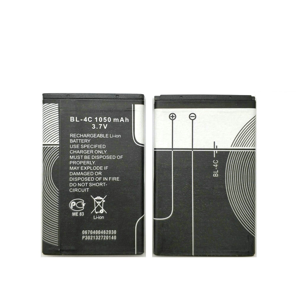 10Pcs/lot High Quality 1200mAh BL-4C battery For <font><b>Nokia</b></font> 6100 1202 1265 1325 6125 <font><b>6300</b></font> 1506 1508 1661 1706 2220s 2228 <font><b>phone</b></font> image