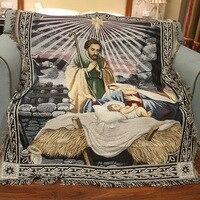 Jesús nació Tapices tapices personas imagen caliente Alfombras/Tapices el sofá para la decoración casera