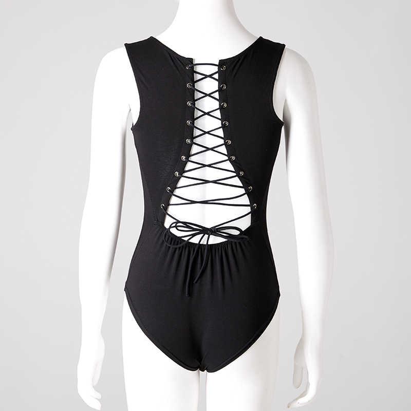 Backless sin mangas Tie Back Snap Botones Lace Up Body de Mujer Primavera Verano de Algodón Mamelucos Playsuits Buzos Blusa Nueva