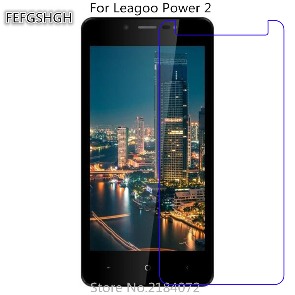 2PCS Tempered Glass For Leagoo Power 2 Protective Film 9H Screen Protector Explosion-proof For Leagoo Power 2