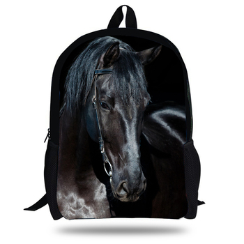 16-inch Teenage Backpack Kids Boys Horse Backpack Zoo Animals School Bag Children Girls Mochilas Escolares