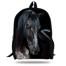 f0ac01f97aa 16-inch Tiener Rugzak Kids Jongens Paard Rugzak Zoo Dieren Schooltas  Kinderen Meisjes Mochilas Escolares