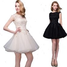 bd04543b92 Suknia ślubna Holievery Scoop Neck tiulowa sukienka balowa suknie ślubne  krótki 2019 kolano długość suknia ślubna