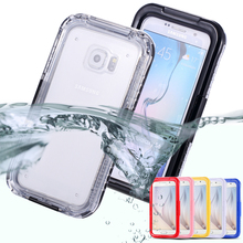 S6 S6 Edge New Waterproof Transparent Case for Samsung Galaxy S6 S6 Edge Clear Diving Soft