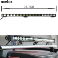 Marloo 36In 180W Single Row LED Light Bar On Grill Front Back Bumper Backup Light For Truck Trailer Chevy Ford Jeep Toyota