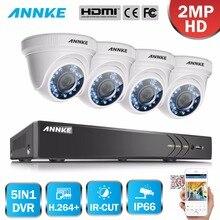 ANNKE 1080 P HD Caméra de Sécurité Système 4CH 1080 P HDMI DVR Kit avec 4 pcs 2MP caméra de surveillance extérieure 1080 P CCTV Système hdd