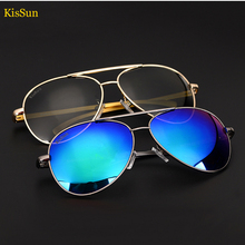 2016 Black G ray Polarized Aviador Men Sunglasses Women Driving Fishing Mirror Sun Glasses Adjustable Arm Eyewear KisSun Brand
